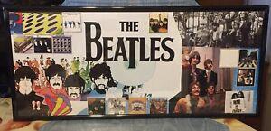 Vintage Rare  Beatles  Collage Framed Poster
