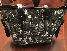 Disney Dooney & Bourke Mickey Mouse Comics Tassel Tote-NWT - RARE