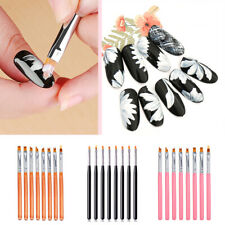 8pcs Home Polish UV Gel Painting Pen Manicure Tool Nail Art Brush Petal Shape