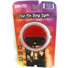 Bower Rechargeable Clip-On Ring Light Works With Most Mobile Devices, Red - NEW