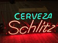 NEW - Old Stock - Cerveza SCHLITZ Neon Beer Sign - Rare Vintage