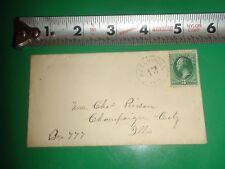 JB459 Vintage Envelope w/early PM & Stamp Reelsville Indiana