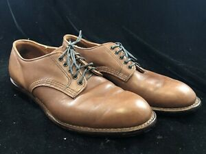 Red Wing 9046 Beckman Oxford Derby Teak Brown USA Men's 10.5 D Leather Shoes