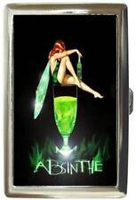 ABSINTHE GREEN FAIRY ART DECO CIGARETTE MONEY CASE