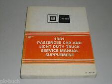 Werkstatthandbuch Service Manual GM 1981 Buick Pontiac Chevrolet Oldsmobile