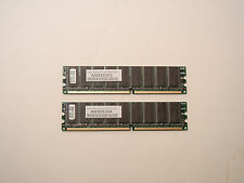 LOT OF 2 AXION AM335304 512MB/1GB RAM Memory DDR 400 ECC Samsung K4H560838E-TCCC
