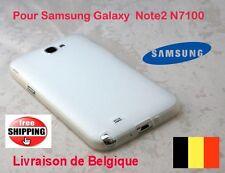 Blanc Pochette Coques Silicone  Pour Samsung Galaxy N7100 Note2   TOP QUALITÉ