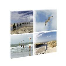 Bild Keilrahmen Wandbild Strand Nordsee Leinwand - vierteilig je 40 cm*40 cm- 8