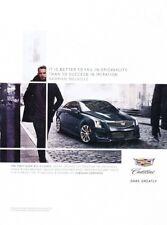 2016 Cadillac ATS-V Coupe Original Advertisement Print Art Car Ad J923