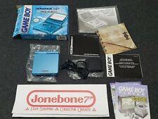 Nintendo GBA SP Game Boy Advance SURF BLUE Complete CIB Box Limited Edition