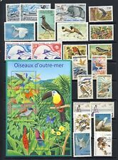 Birds on stamp collection from France and Colonies, Monaco mnh vf on 3 pages