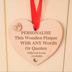 Personalised Wooden Sign Plaque Custom Bespoke Made Wall Door Hanging Gift Ideas