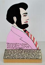 ORIGINAL HOWARD FINSTER AMERICAN FOLK ART ~ ABRAHAM LINCOLN PAINTING ~ 1995