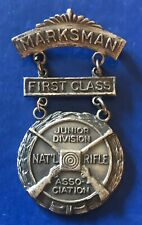 VINTAGE NRA JUNIOR RIFLE CORPS SHARPSHOOTER FIRST CLASS MEDAL