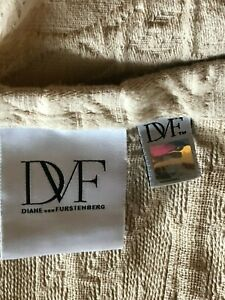 Diane Von Furstenberg Home Collection Full/Queen tan Twill Cotton Quilt Coverlet