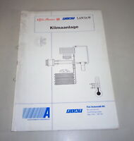 Schulungsunterlage Fiat Air Conditioning Stand 05/1996