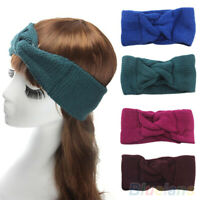 HN- Women Knitted Turban Twisted Knotted Hair Band Warmer Head Wrapping Headband