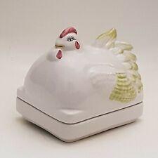 More details for porcelain chicken egg storage holder chicken design vintage (b1)