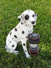Outdoor Garden Landscape decoration Dalmatian Dog With Lantern Solar Light