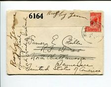 GB Housse WWI WAR Opened PAR CENSURE 6164 ENVELOPPE MILITAIRE to the United
