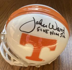 John Ward Signed Tennessee Vols Mini Helmet Beckett COA! Inscribed Give Him Six