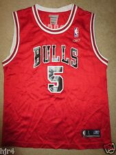 Jalen Rose #5 Chicago Bulls NBA Reebok Jersey Youth L 14-16 Children