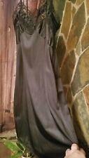 Vintage Black Nylon lace Slip Night Gown ! Gorgeous