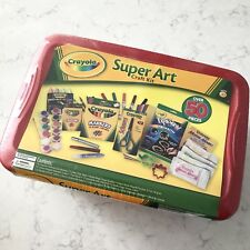 New Sealed Crayola Super Art Craft Kit Markers Crayons Chalk Paint