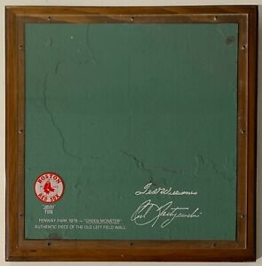 """The Original Green Monster Fenway Park Boston Red Sox (12""""x12"""") Section of Wall"""