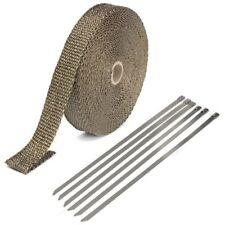 25mmx15m Exhaust Heat Wrap Isolation Tuyau Ruban titane fibre de verre avec 6 STAI