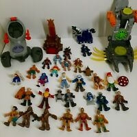 Imaginext Figures Super Heroes Lot of 36 Vehicles Castle Knights Tribal