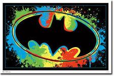 BATMAN LOGO - BLACKLIGHT POSTER - 24X36 FLOCKED DC COMICS 52704