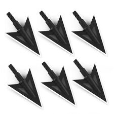 6pcs 100 Grain 2 blade Archery Hunting Steel Broadheads Heads Tips Arrow Points