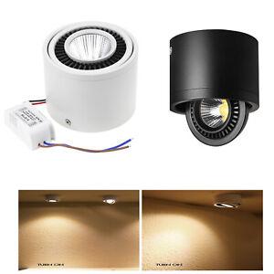 3W 5W 7W 9W 12W 15W Surface Mounted COB LED Down Spot Wall Light 360° Rotating