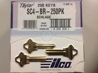 Schlage SC4 Key Blanks Box 250