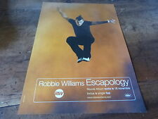 ROBBIE WILLIAMS - Publicité de magazine / Advert ESCAPOLOGY !!!!!!!