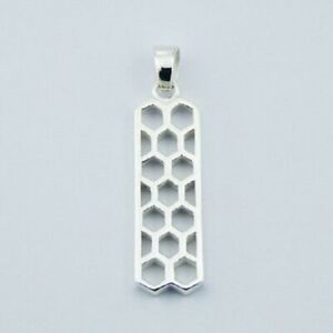 925 Sterling Silver Pendant Unique Honeycomb Design Highly Polished Stylish