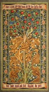 Tapestry Textile Picture Panels Woodpecker Gold William Morris without Frame