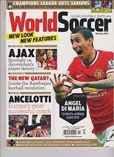 WORLD SOCCER MAGAZINE FEBRUARY 2015, ANGEL DI MARIA, AJAX ANCELOTTI.