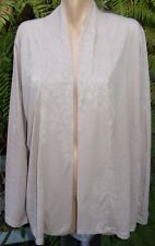 KATIES SAND Draped Front Cardi NEW SIZE 2XL-20 RRP$49.95 Embossed Floral Fabric