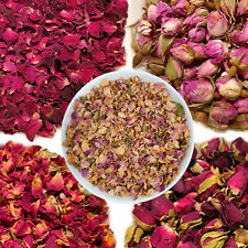 Pink Red Rose Buds, Petals Dried Rose Flowers, Craft Tea, Potpourri Soap Candle