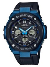 Casio G-Shock G-STEEL * GSTS300G-1A2 Solar Midsize Blue Case Black Resin Watch