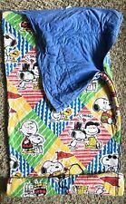 Peanuts Gang Sears Vintage 70s Sleeping Bag Charlie Brown Snoopy Woodstock Lucy