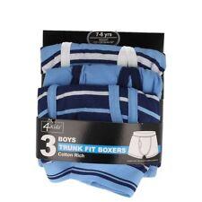 Sous-vêtements bleus coton mélangé pour garçon de 2 à 16 ans