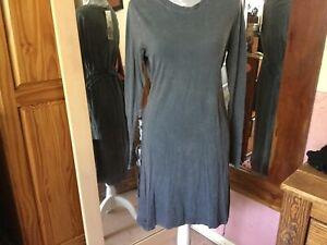 H&M Divided Grey Acid Wash Dress Size M