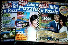 Take A Break's Take a Puzzle Magazines x 3 2018 & 2019,2020(new)