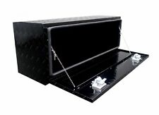 48in BLACK Aluminum Underbody Tool Box - ATV - Pickup - RV -Trailer - Truck