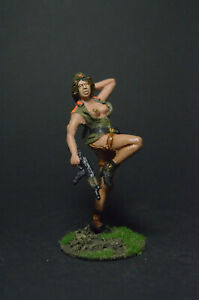 Tin soldier figure Girl with AKC 54 mm