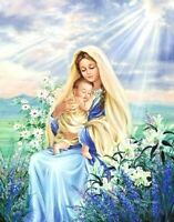 "Virgin Mary with Baby Jesus  wall art  Canvas Picture Print 30""x20"""