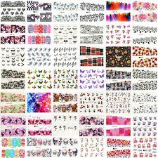 Nail Art Water Decal Stickers,Design Choice,Flowers,Skulls,Butterfly, UK Seller